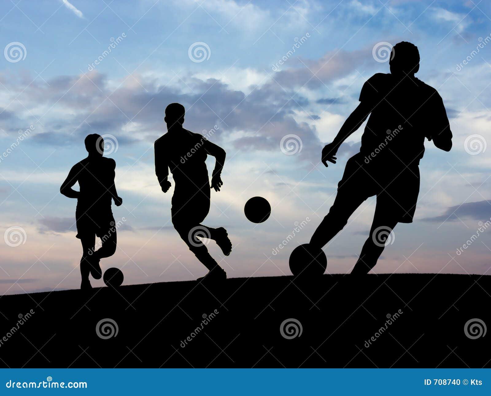 Treinamento do futebol (céu)