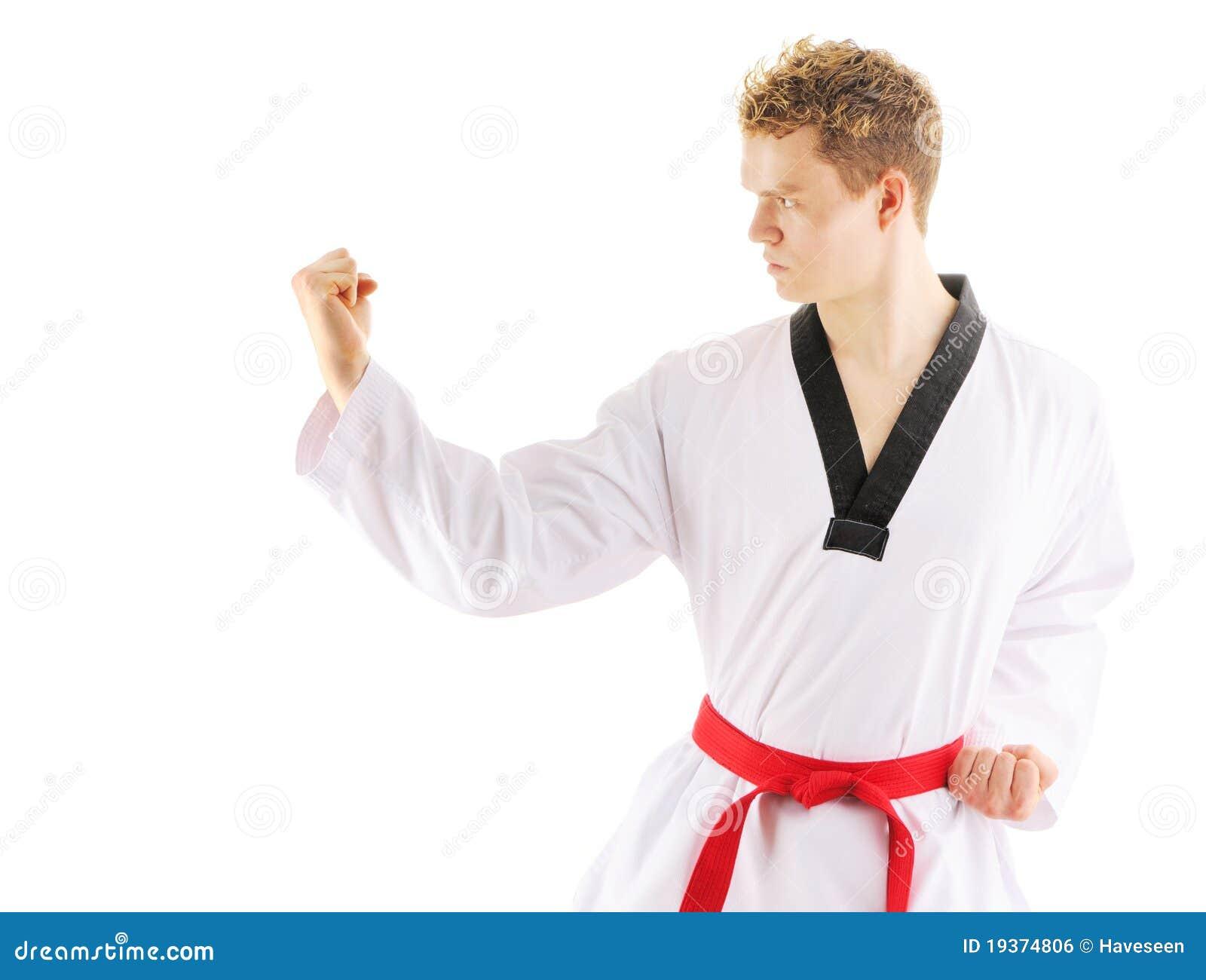 Treinamento taekwondo do homem