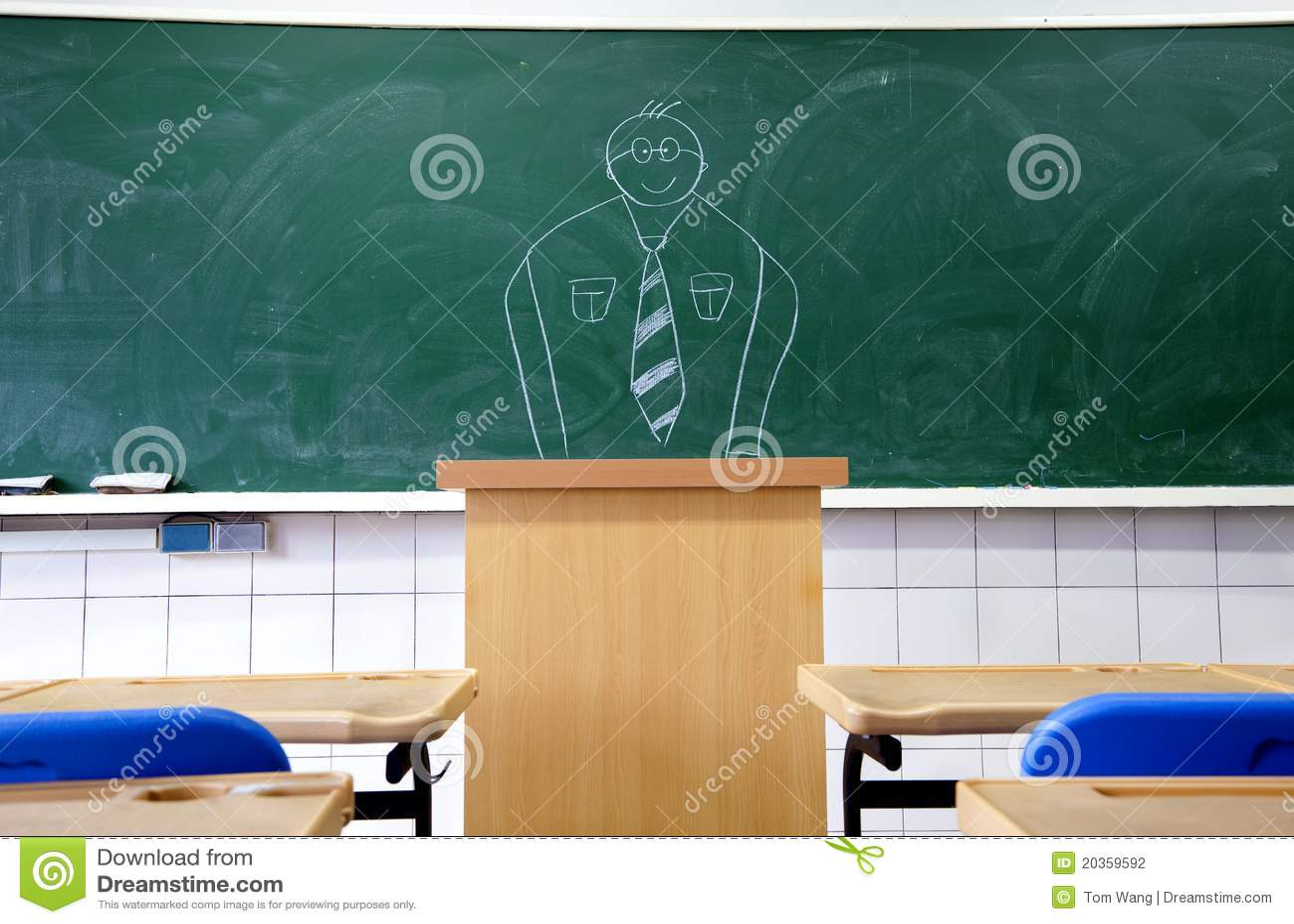 Trek leraar op het bord