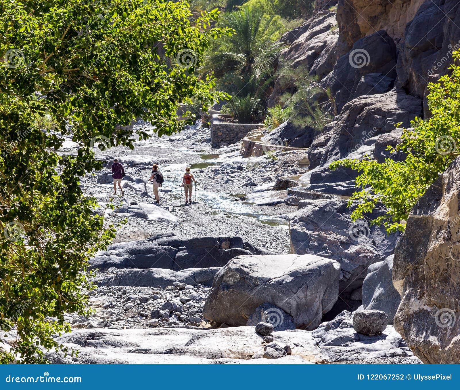 Trek in Nakhr Wadi - Oman