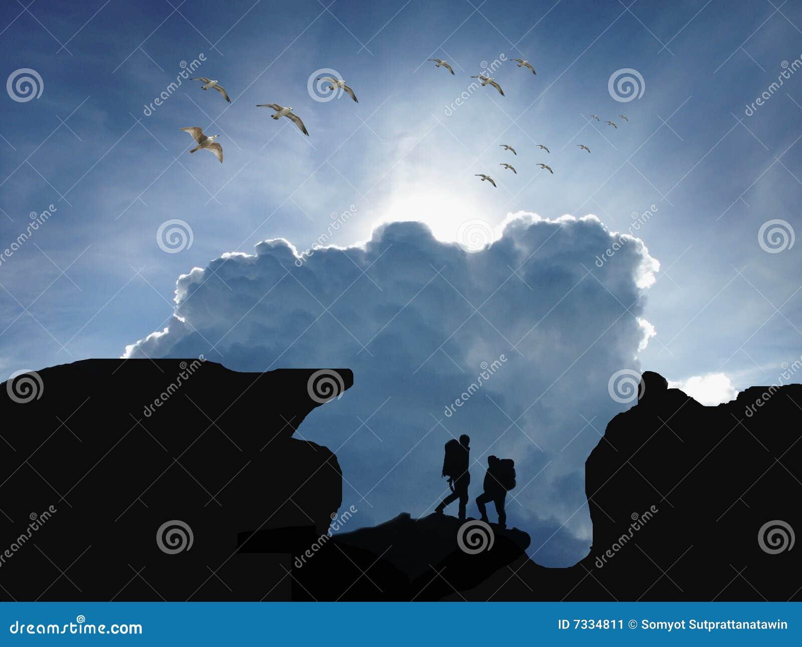 Trekker silhouette