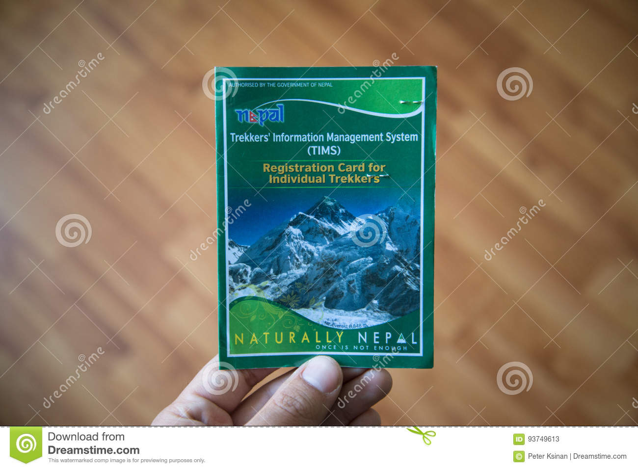 Trekkers` Information Management System TIMS Card Editorial