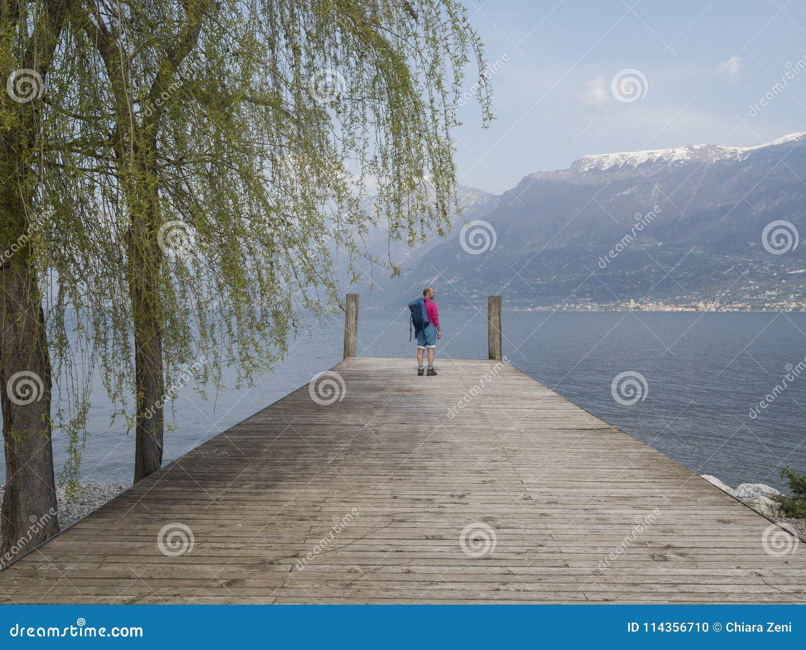 Trekking on garda lake