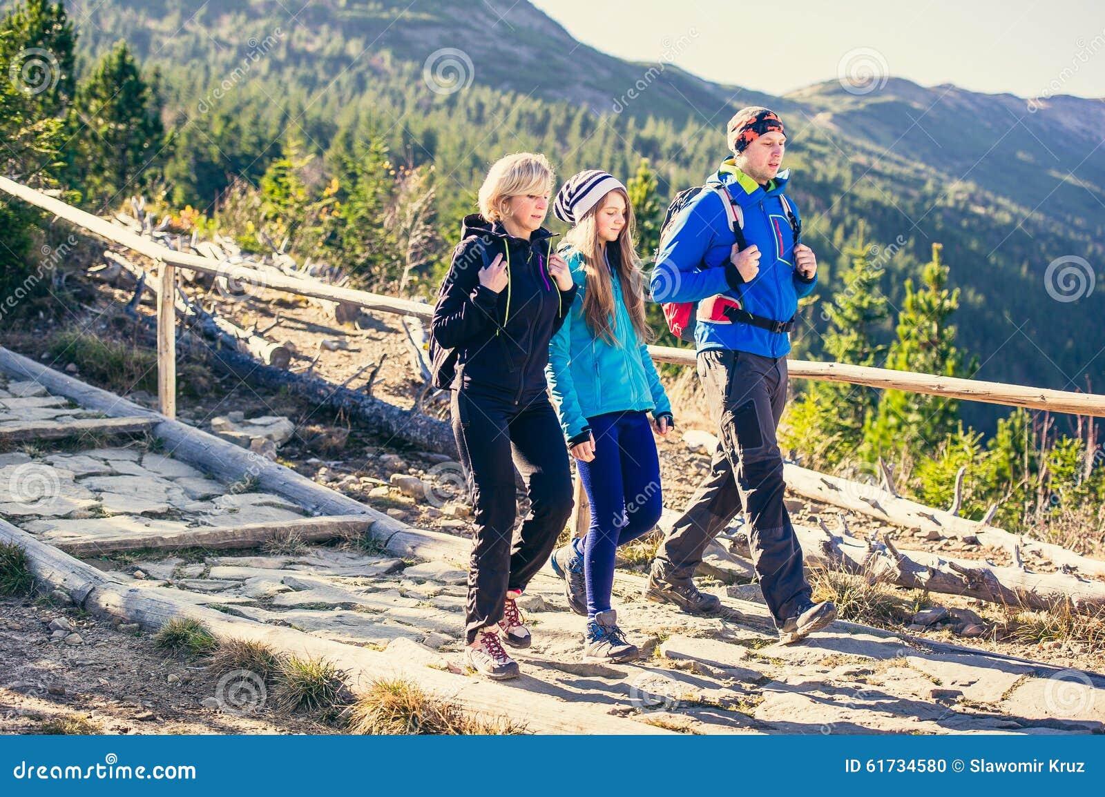 Trekking in montagne