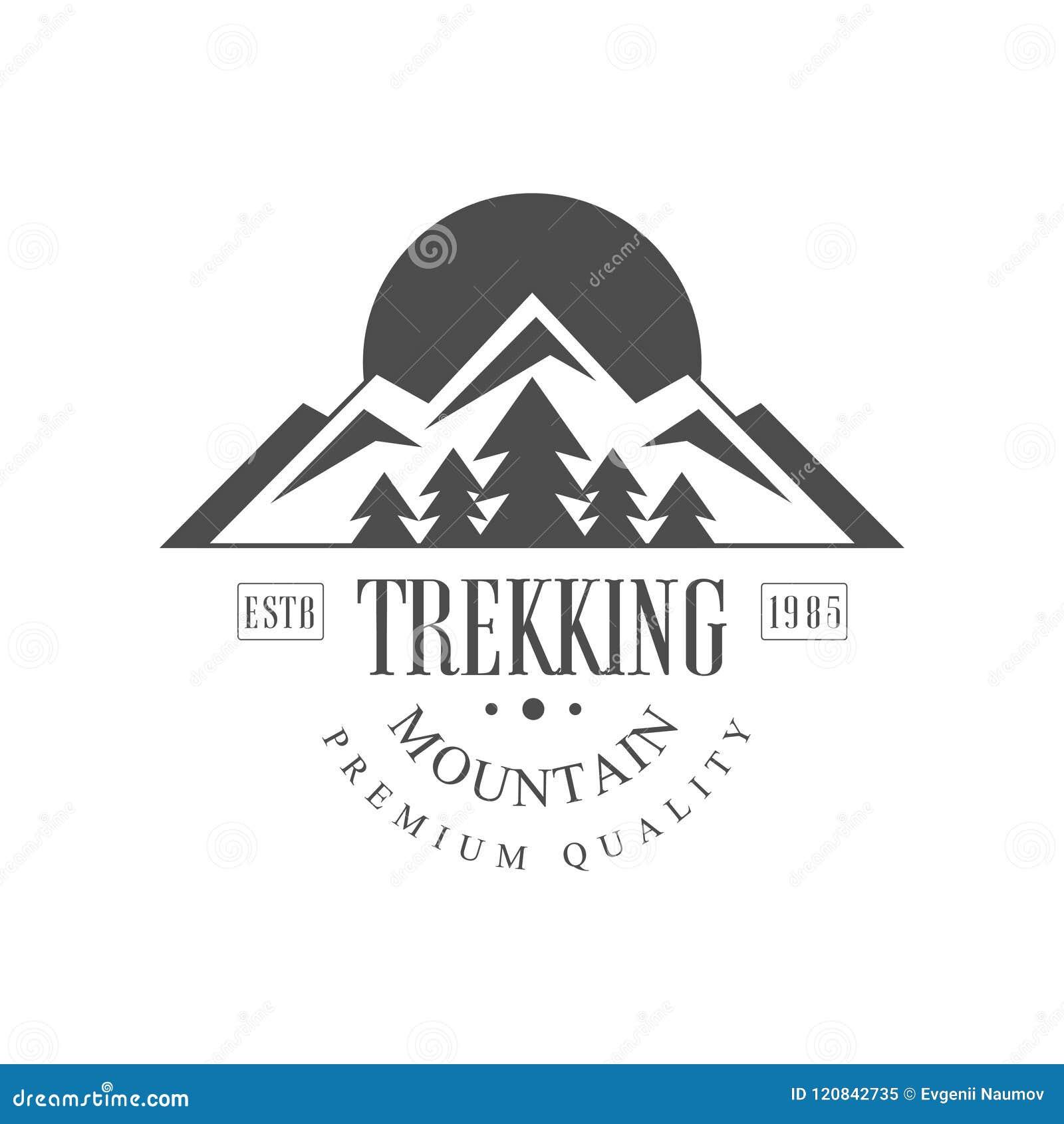 0b29ff195e0dc Trekking Mountain Premium Quality Estb 1985 Logo Design