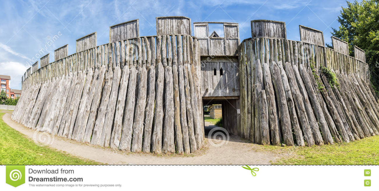 Trelleborg viking fort stock photo image 75412801 for Old wooden forts