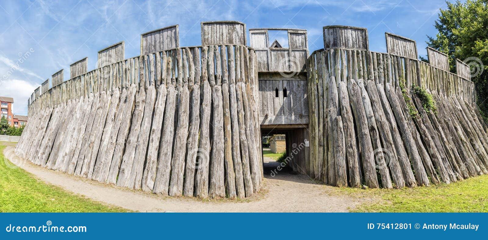 Trelleborg Viking Fort Stock Photo Image 75412801