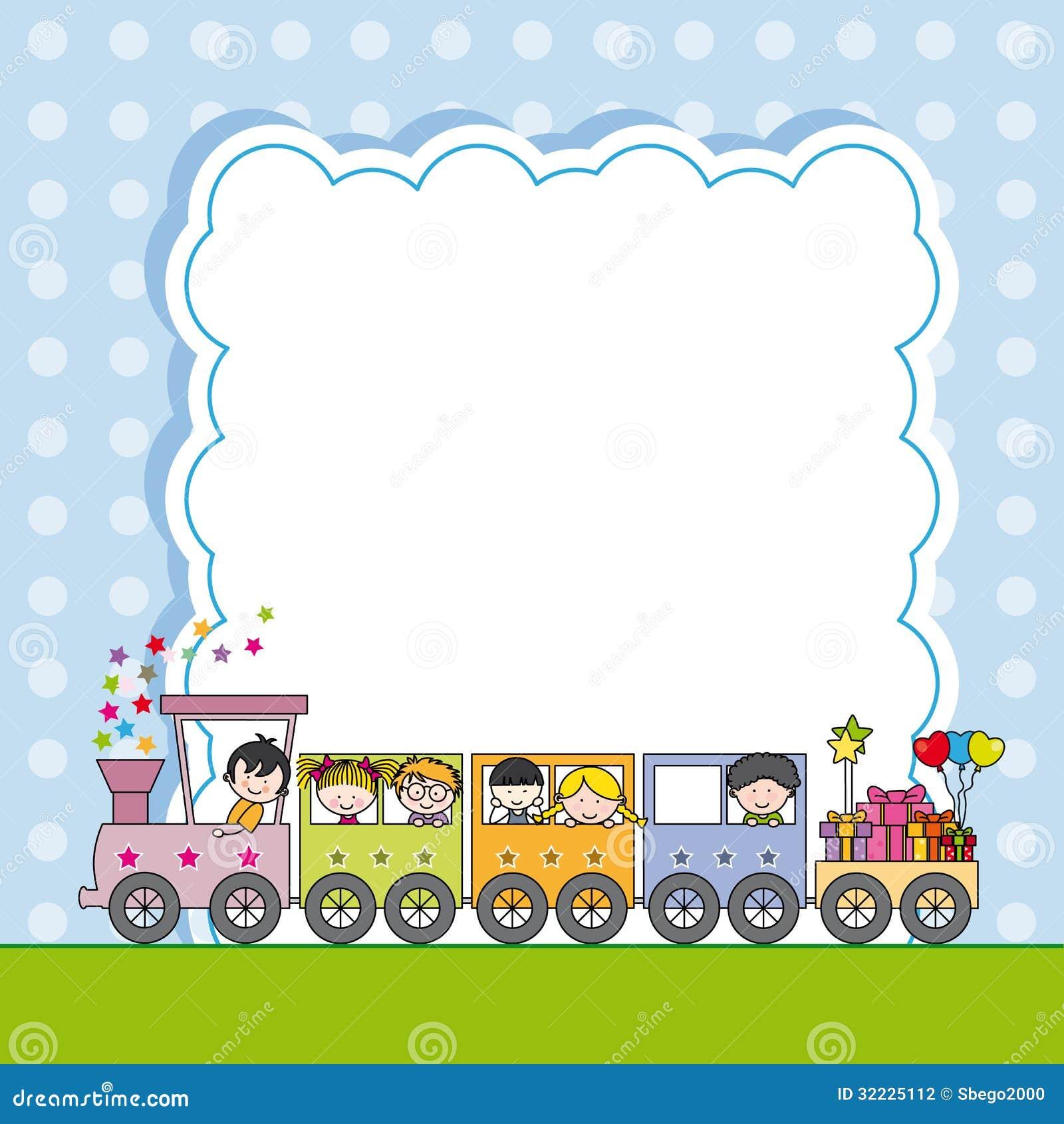 Download Trem Com Crianças. Estrutura Ilustração do Vetor - Ilustração de amigos, ilustração: 32225112