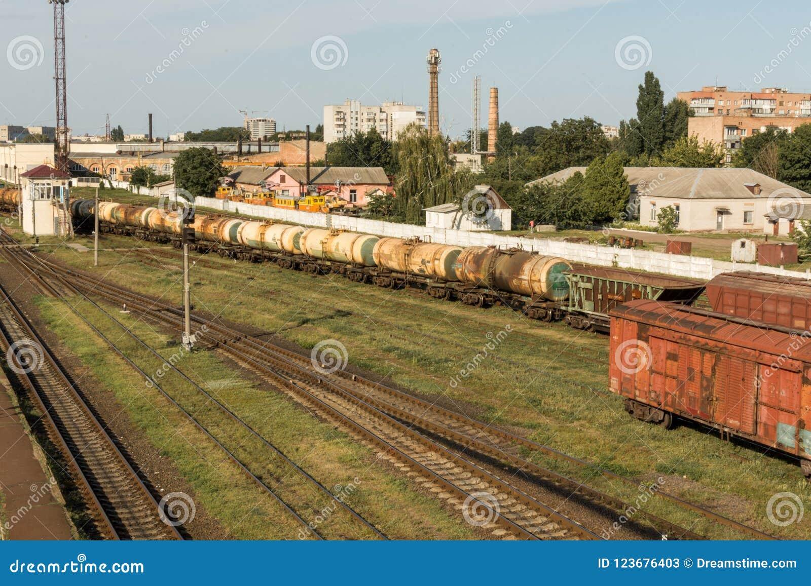Trem da carga Estação de comboio britânica