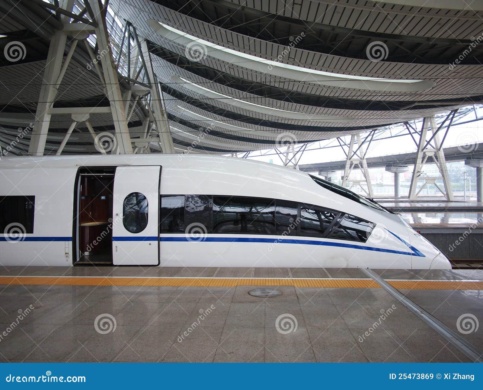Trem de alta velocidade, estrada de ferro