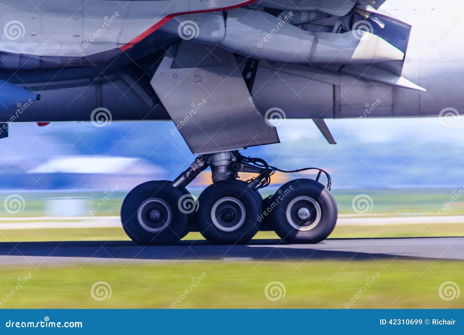 Trem de aterrissagem no movimento