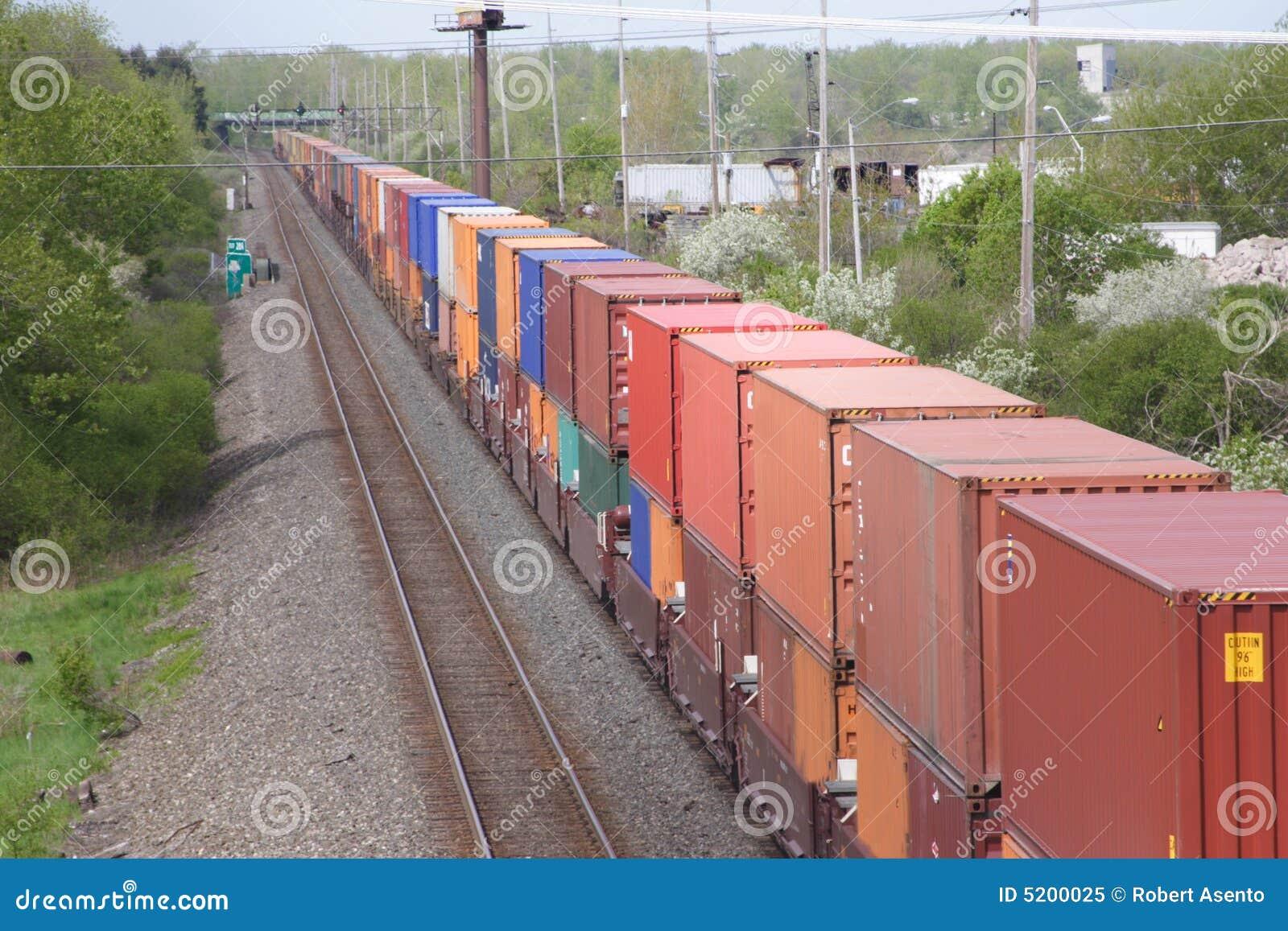 Trem de recipientes de Shiping