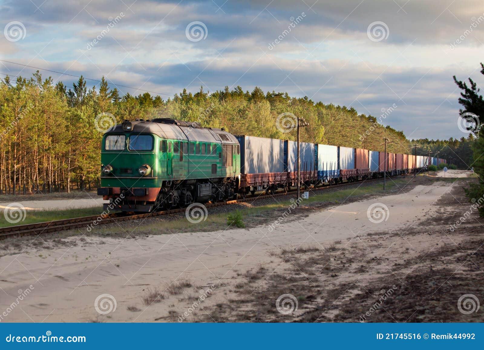 Trem do diesel do frete