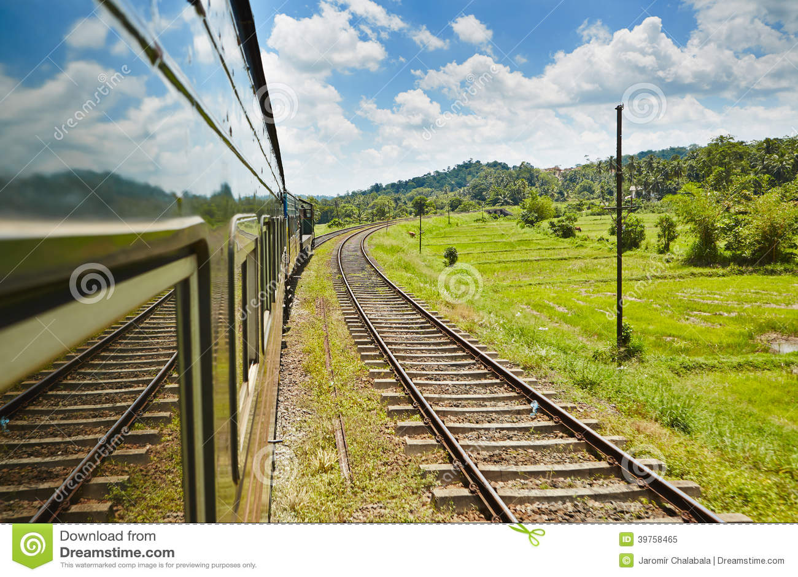Trem em Sri Lanka