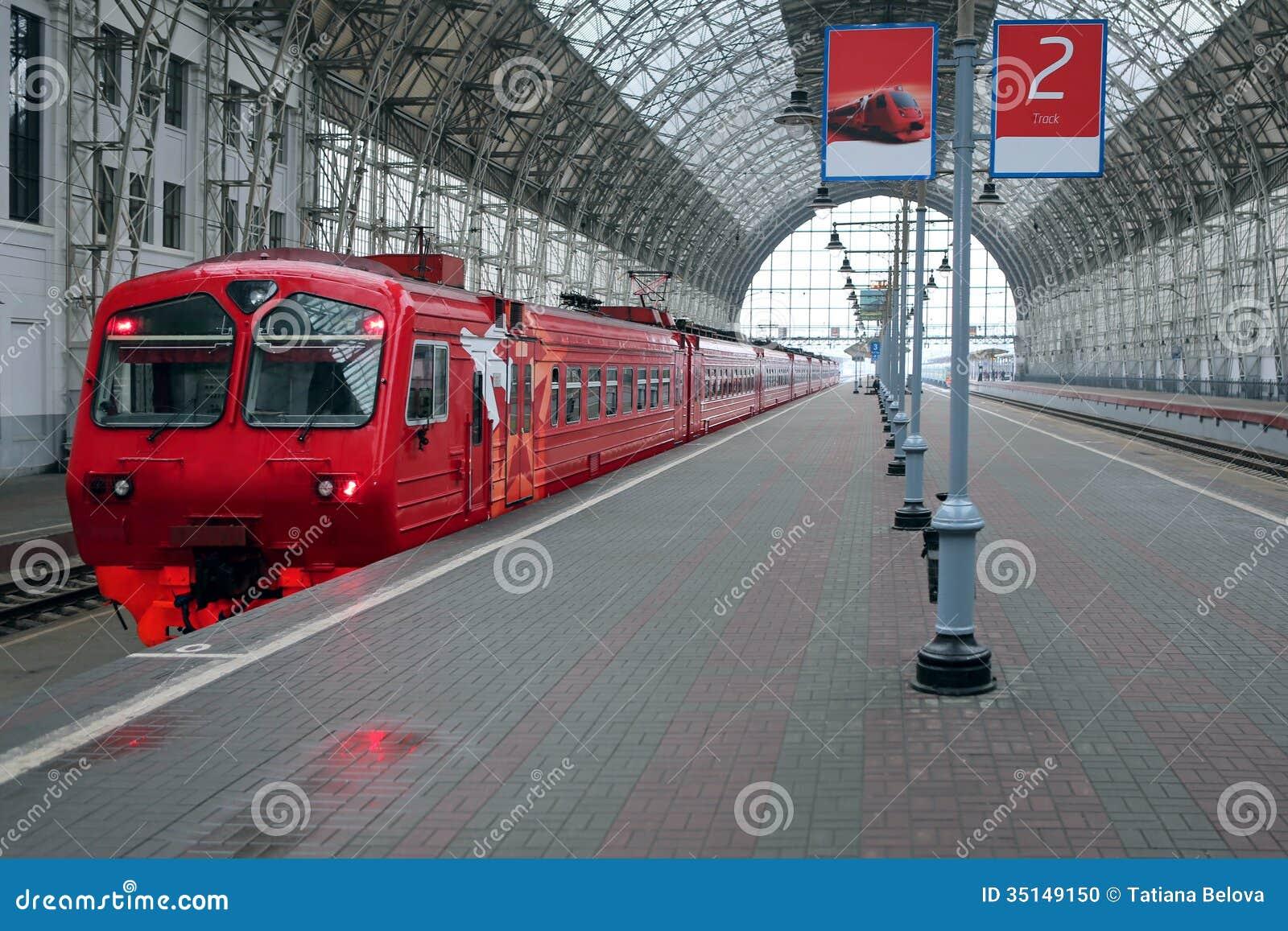 Trem na estação de trem