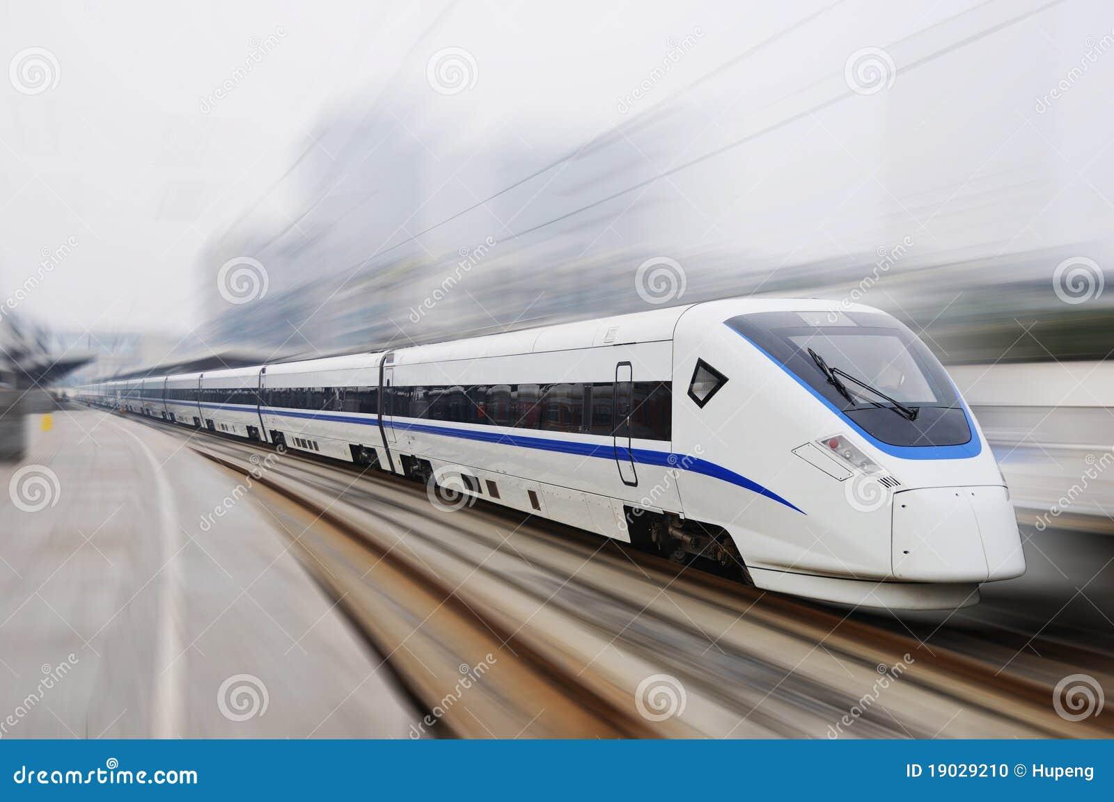 Trem rápido chinês de modelo novo
