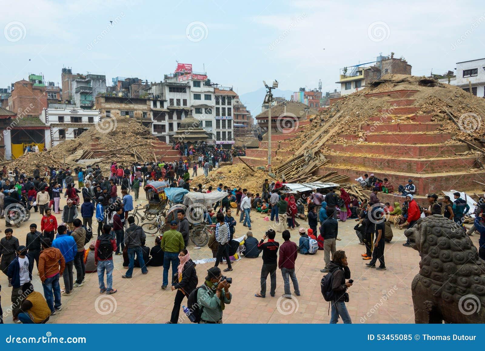 Tremblement de terre du Népal à Katmandou