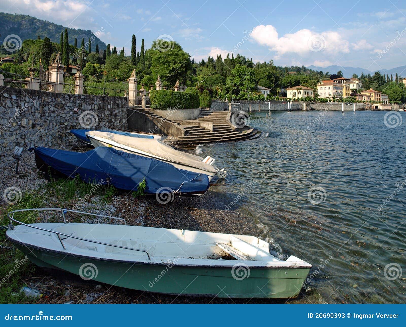 Boats On Shore Lake Como Stock Photos Image 20690393
