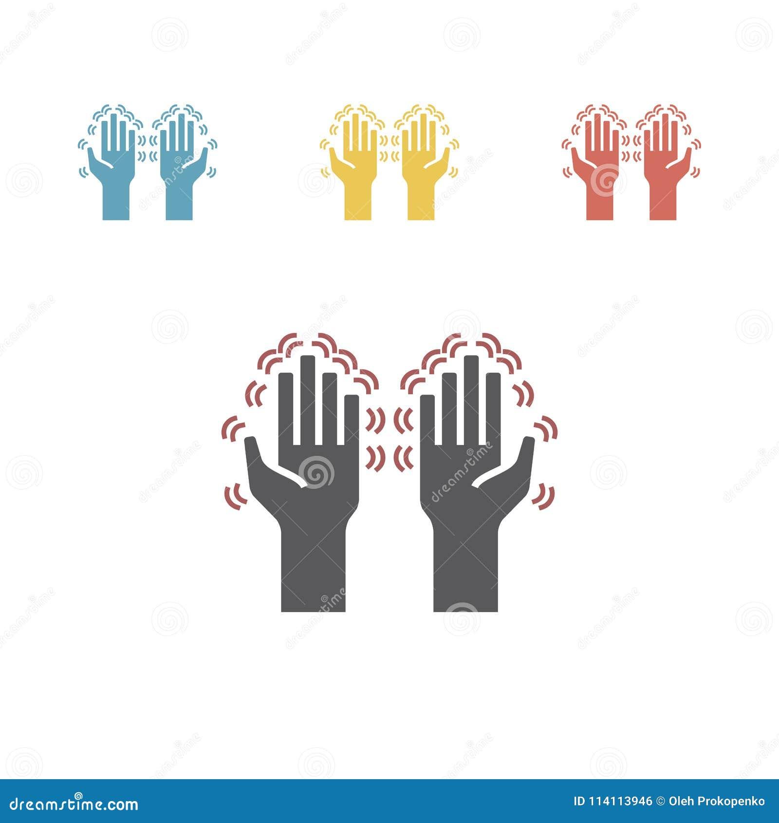 Tremor hands. Vector illustration