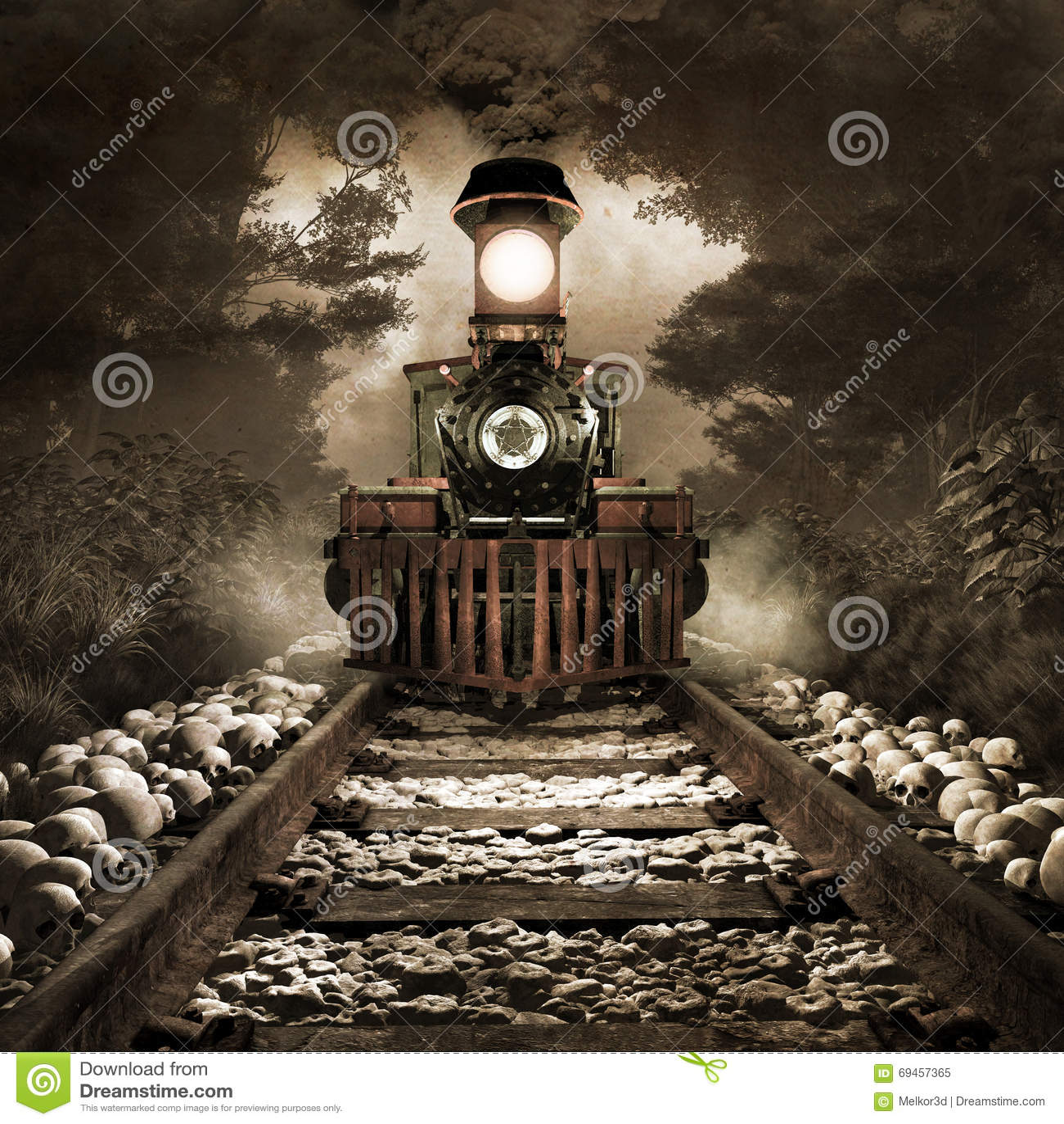 Tren asustadizo