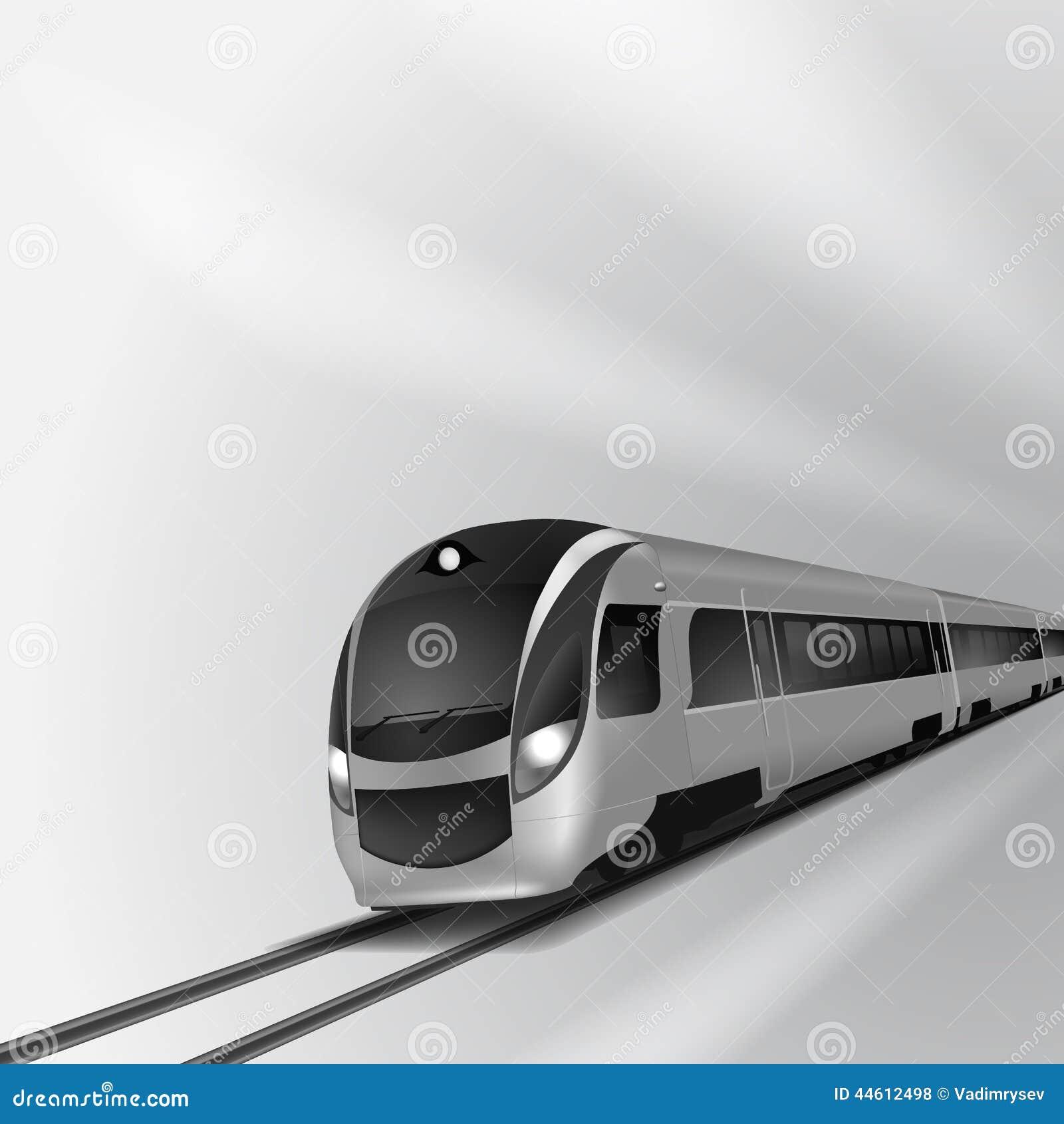 Tren de alta velocidad moderno 2