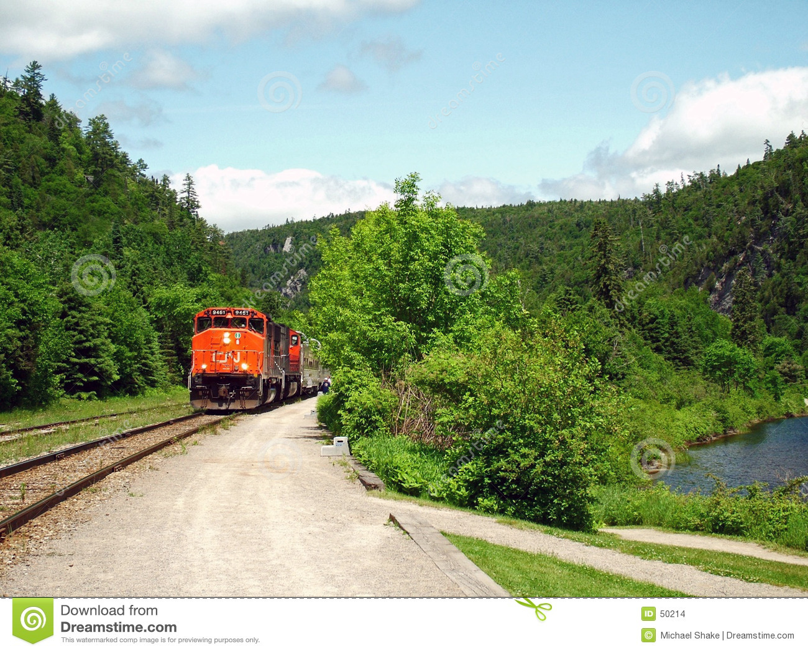 Tren de la barranca de Agawa.
