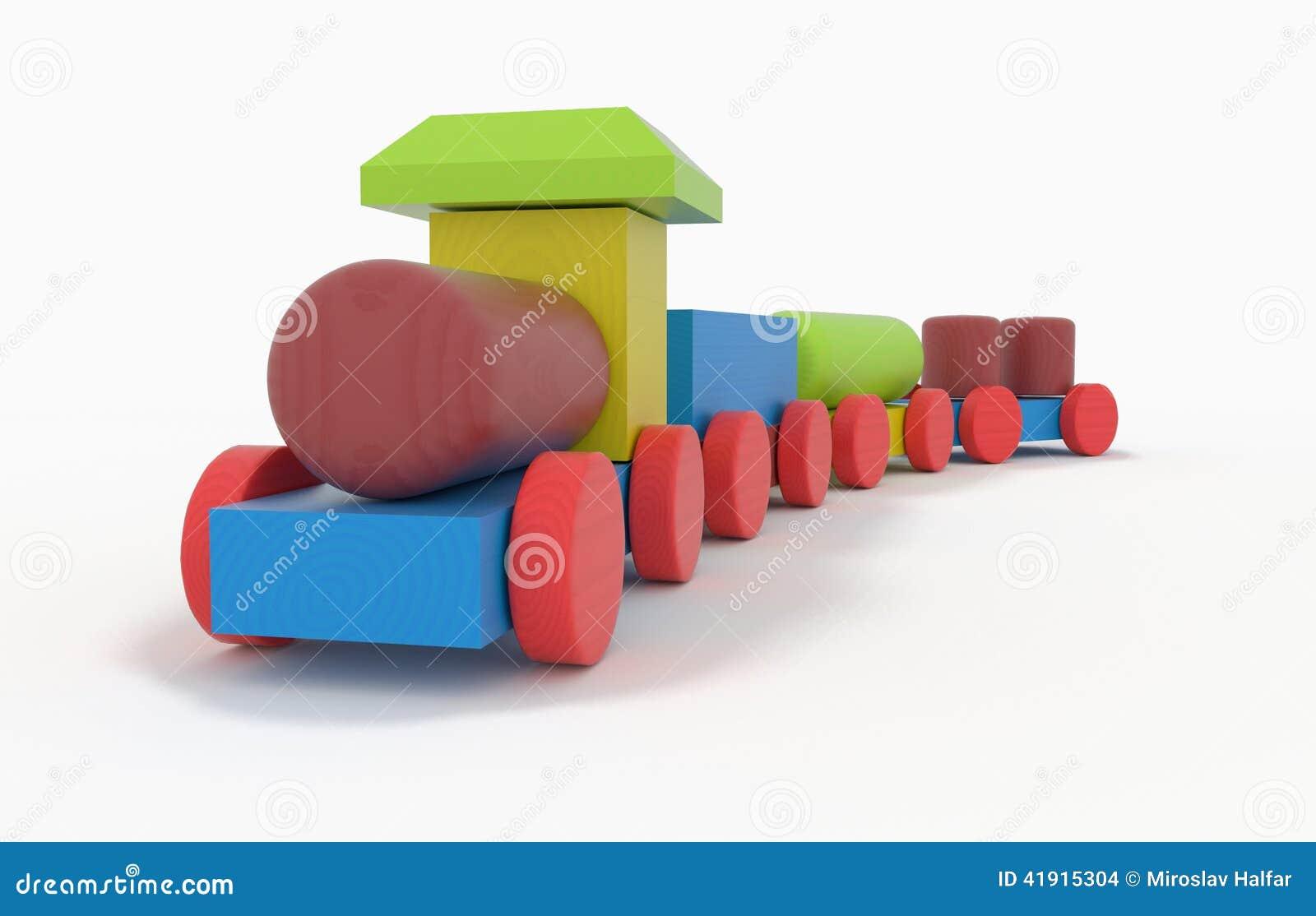 Tren de madera del juguete