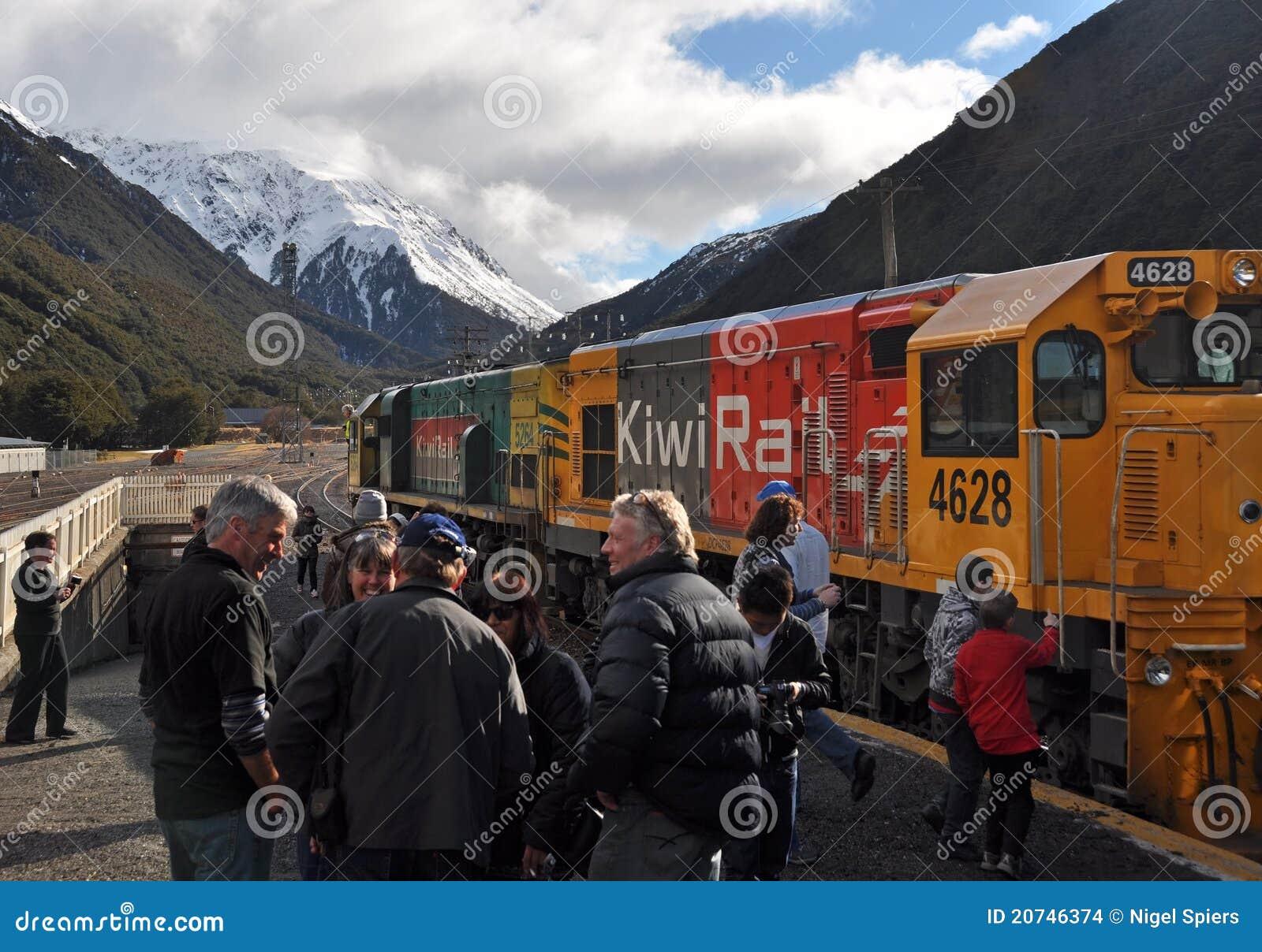Tren de TranzAlpine, paso de Arthurs, Nueva Zelandia