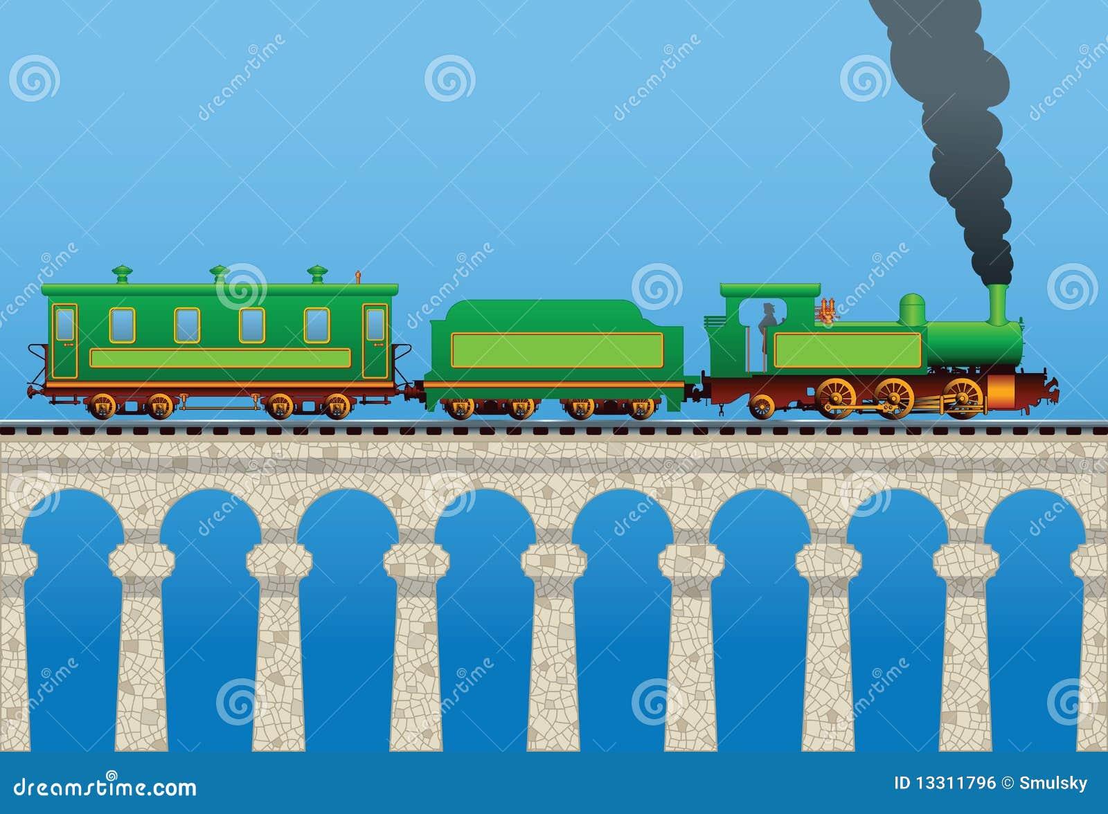 Tren en el puente