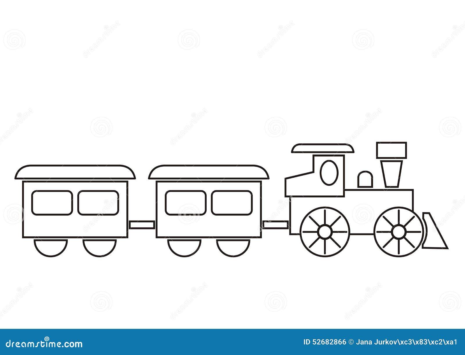 Tren, libro de colorear ilustración del vector. Ilustración de ...