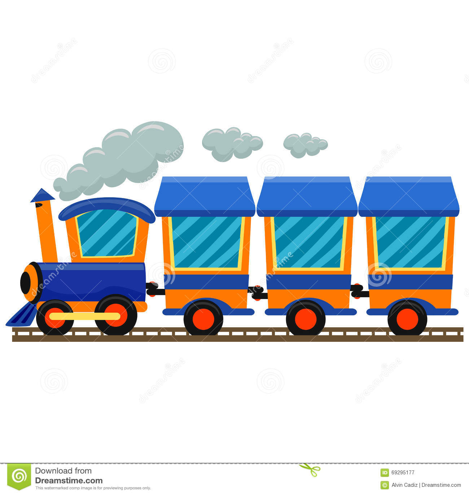 Tren locomotor colorido