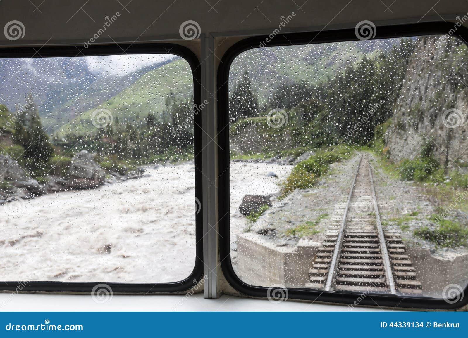 Tren a los Aquas Calientes en Perú