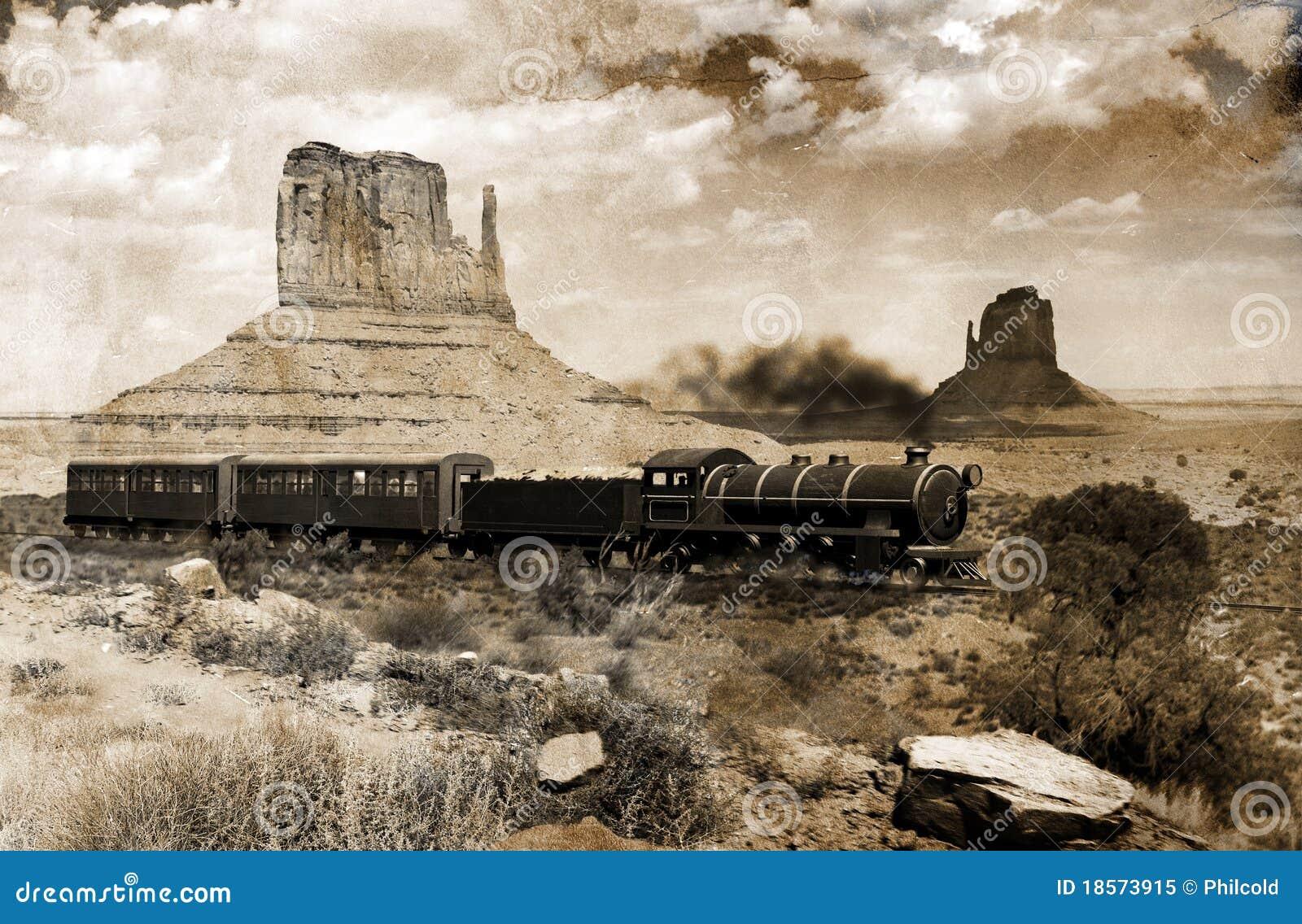 Tren occidental viejo