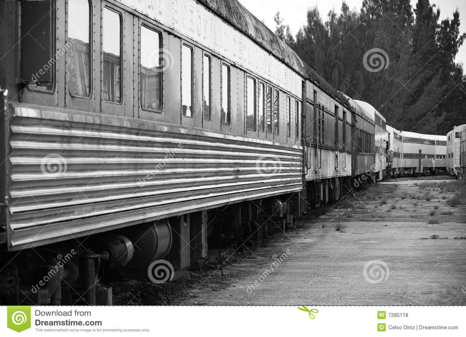 Tren viejo en trainyard