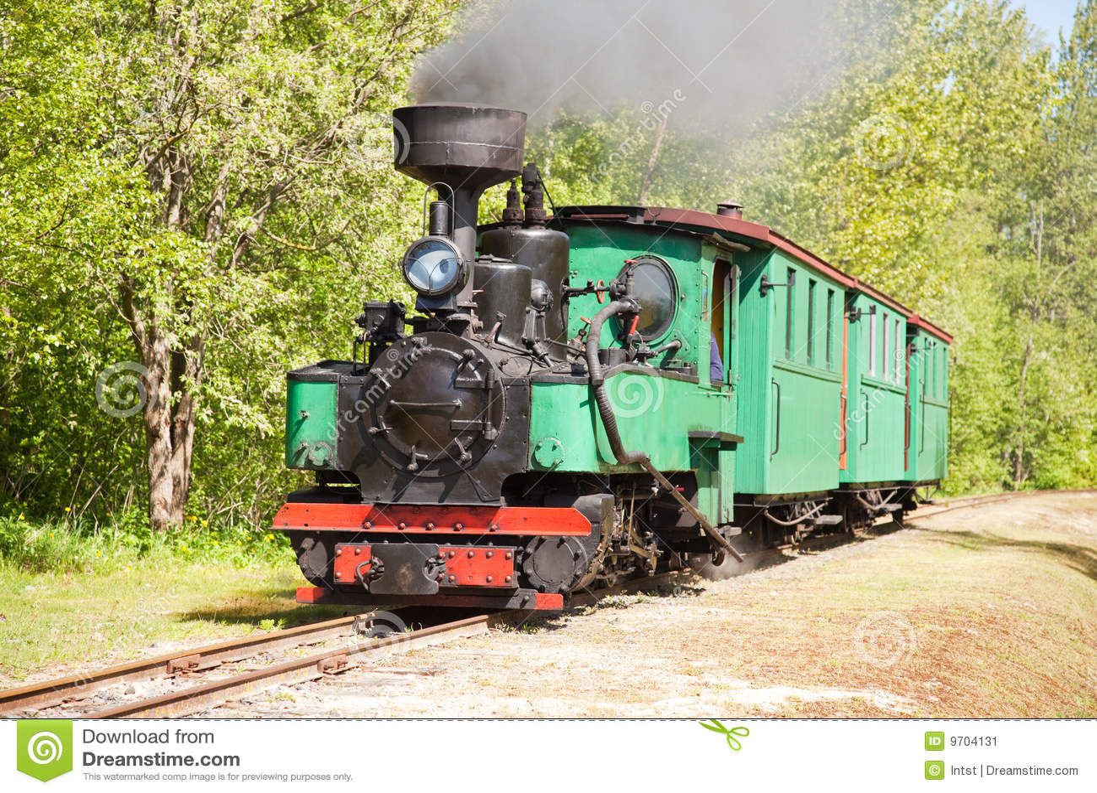 Tren viejo del motor de vapor