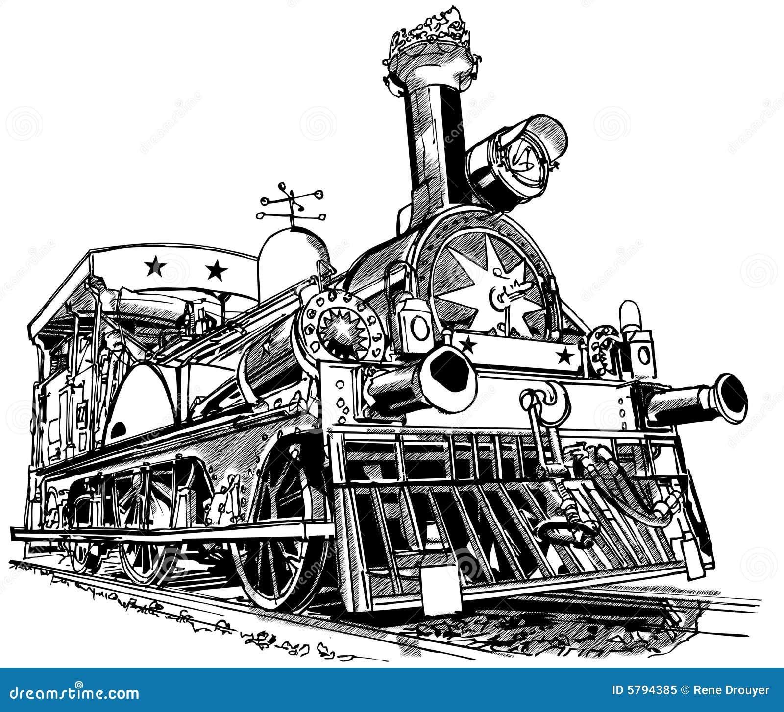 tren viejo del vapor foto de archivo libre de regal u00edas