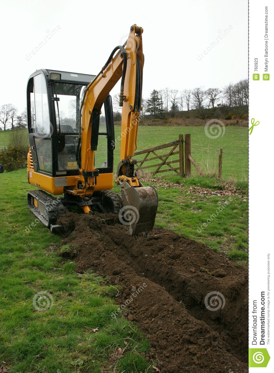 Trench Digger Stock Photos Image 760923