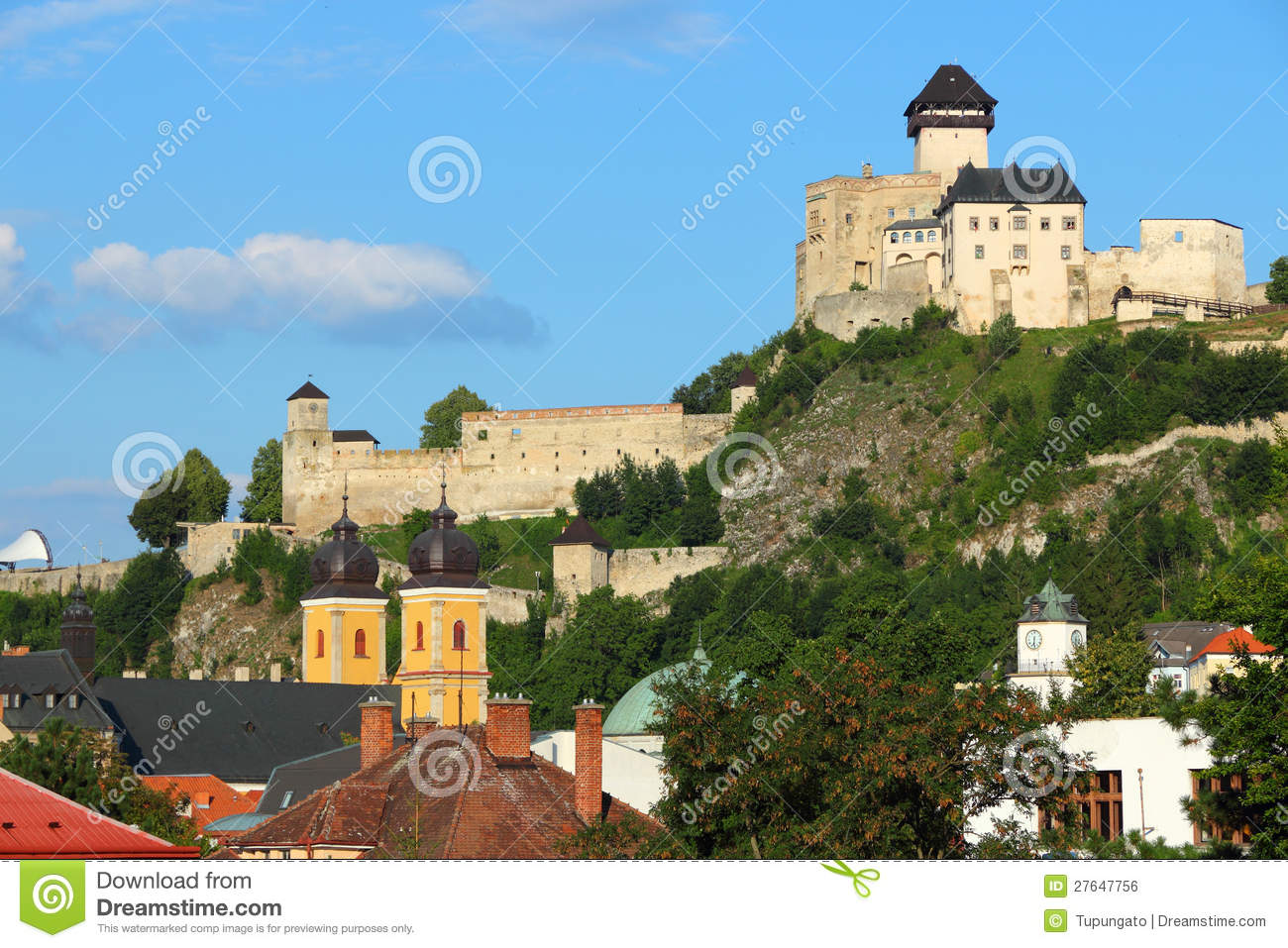 Trencin Slovakia  City pictures : Trencin, Slovakia Royalty Free Stock Image Image: 27647756