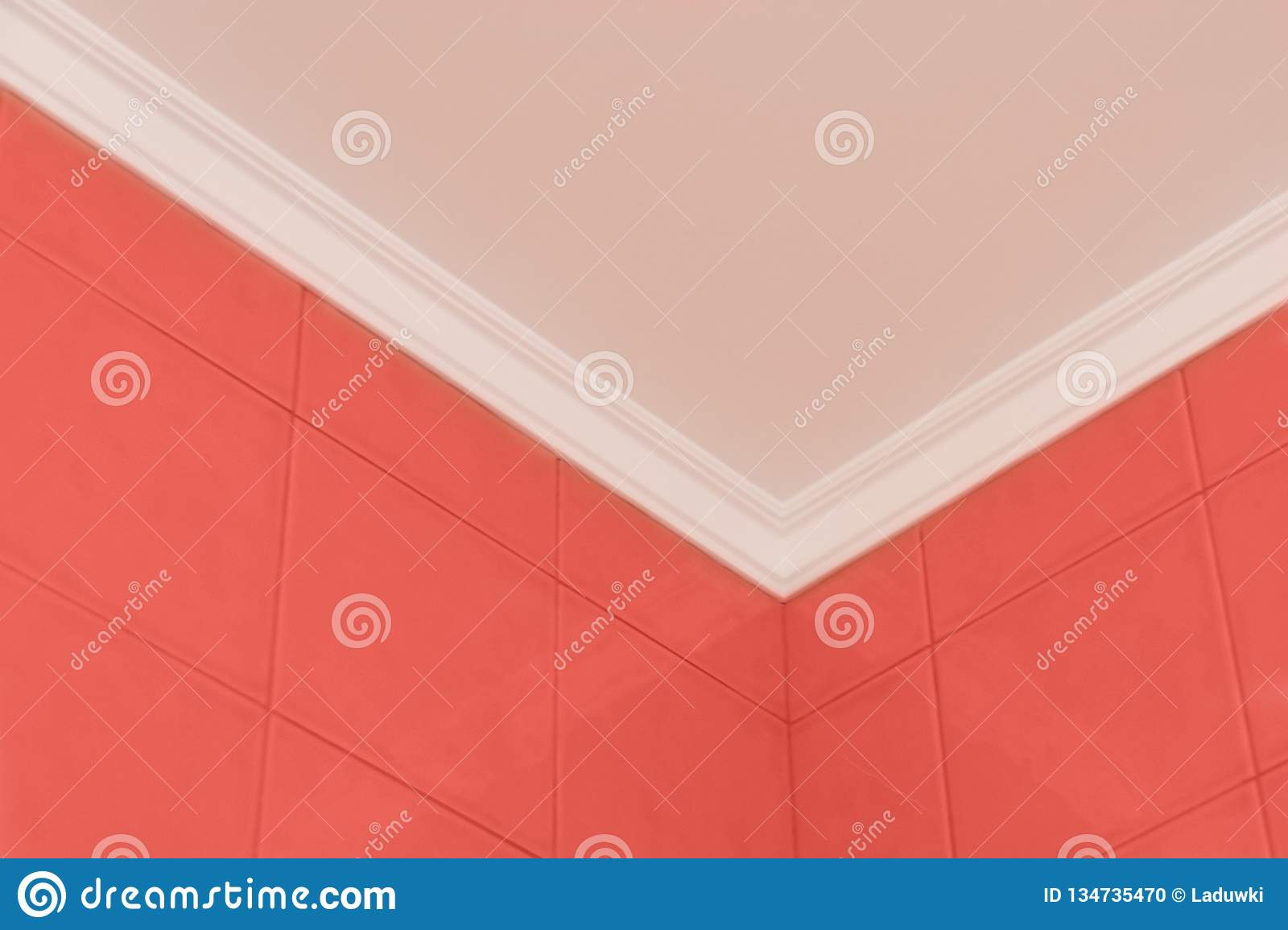 Trend concept color of the year 2019 Living Coral