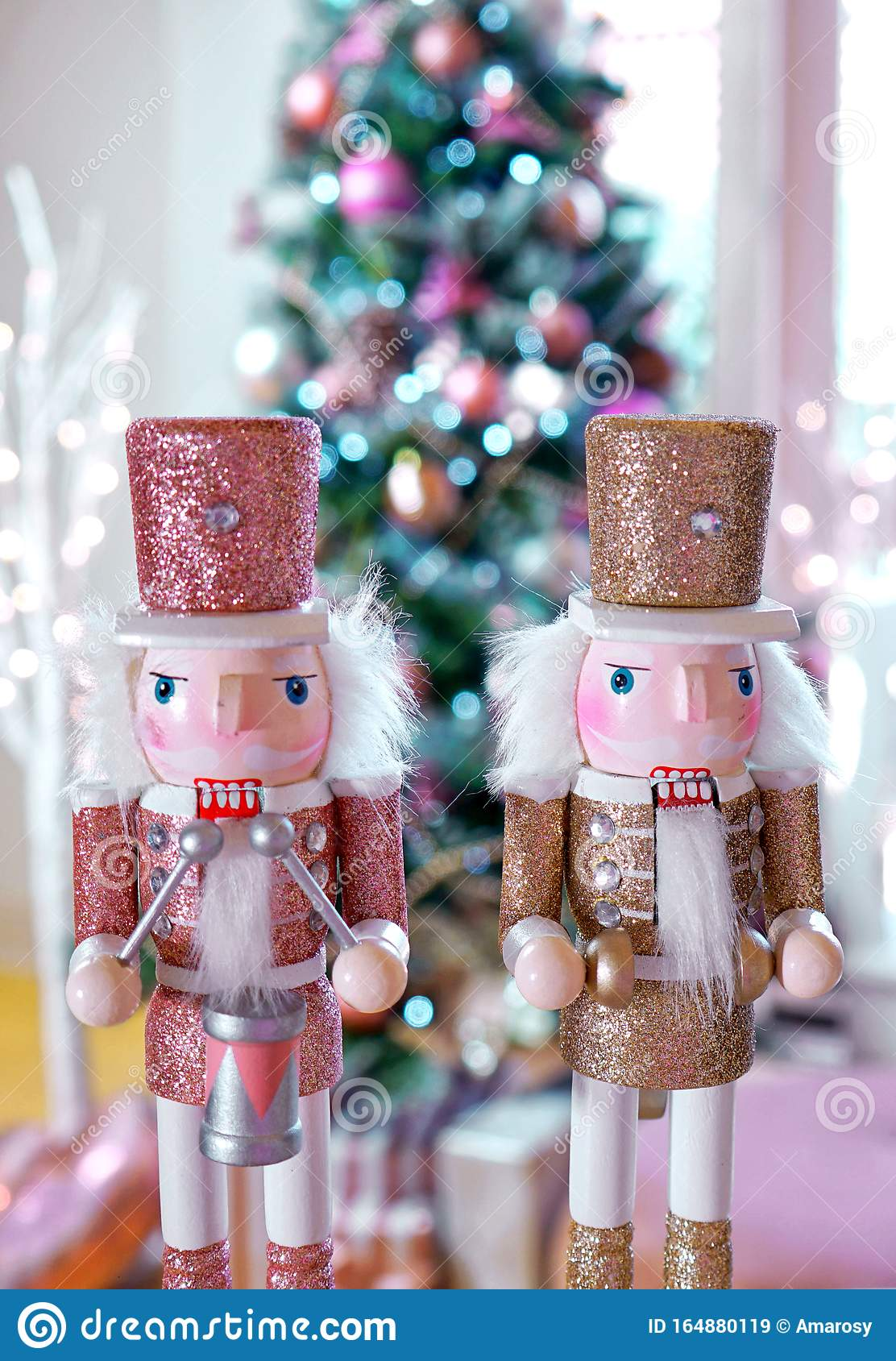 On Trend Pink And Rose Gold Trimmed Christmas Tree With Tray For Santa Stock Image Image Of Object December 164880119