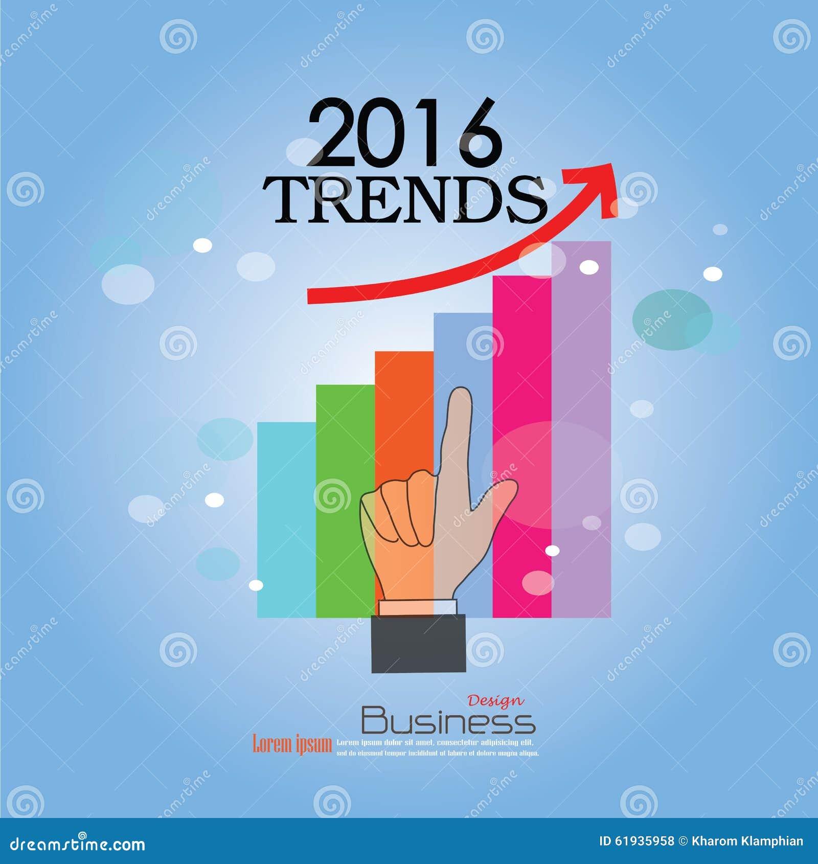 2016 Trends Stock Illustration