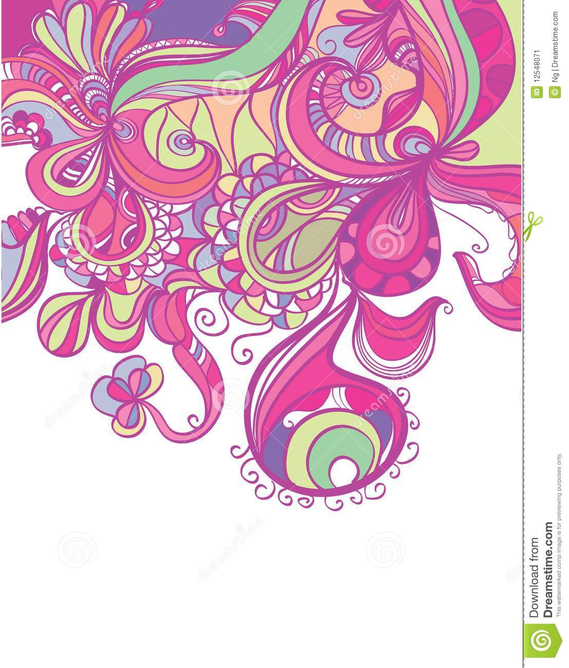 Trendy abstract border design