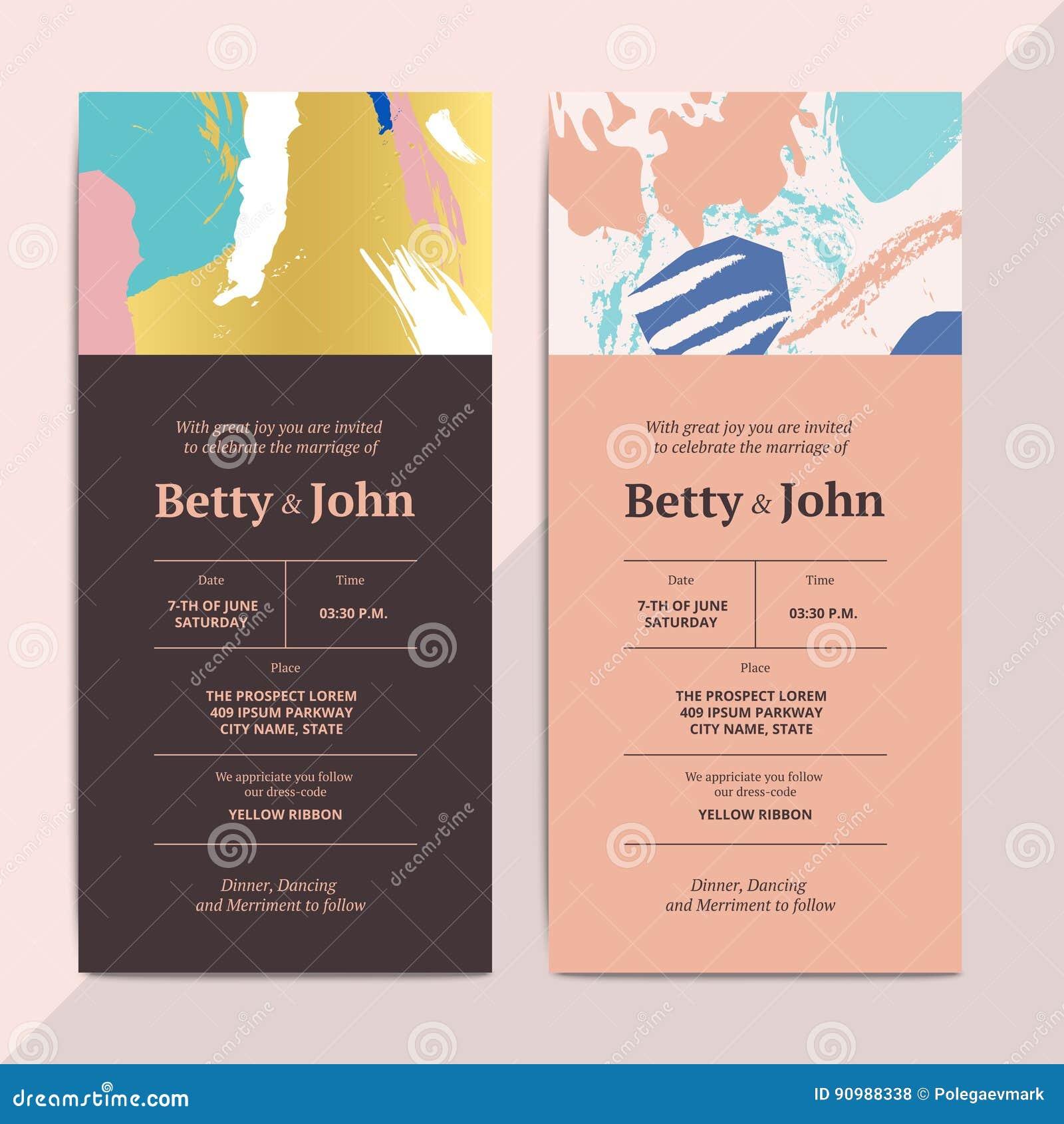 wedding invite layout templates