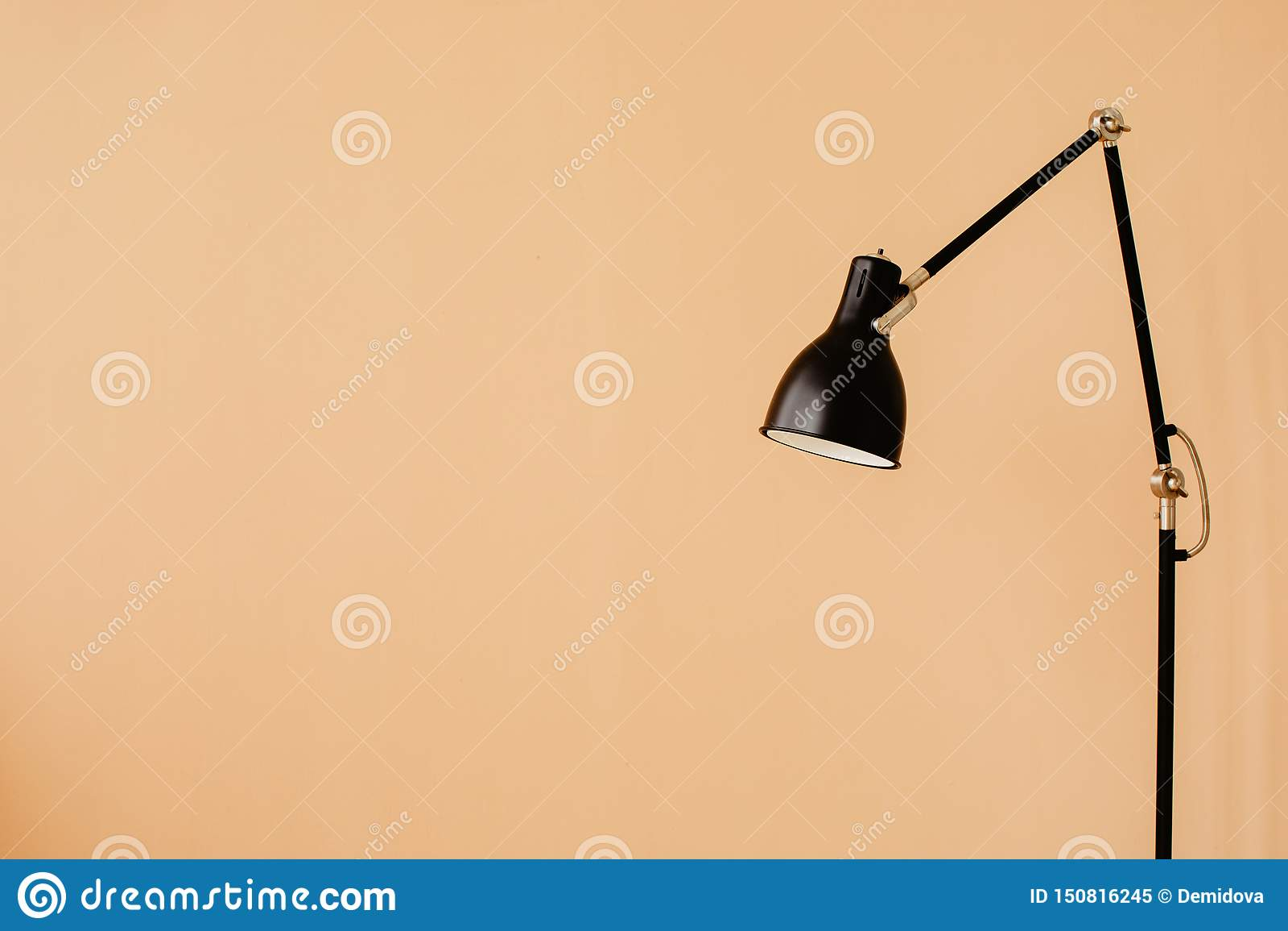 Stylish floor lamp in apartment