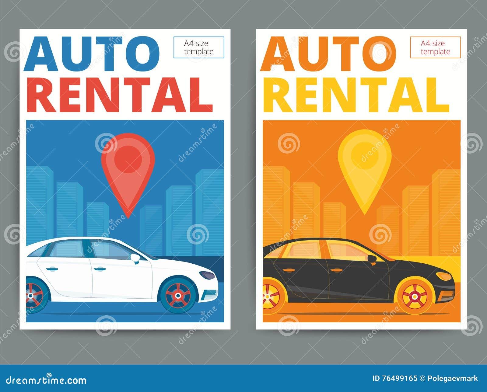 Trendy Poster Designs: Trendy Auto Rental Service Poster Design. Modern Vector