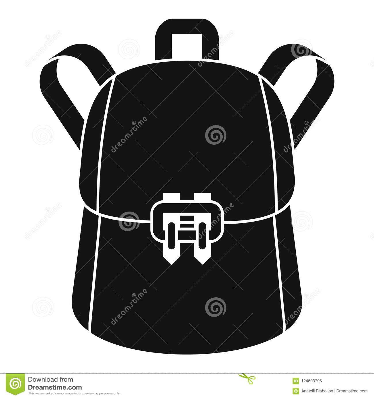 37337e181 Trendy backpack icon. Simple illustration of trendy backpack icon for web  design isolated on white background