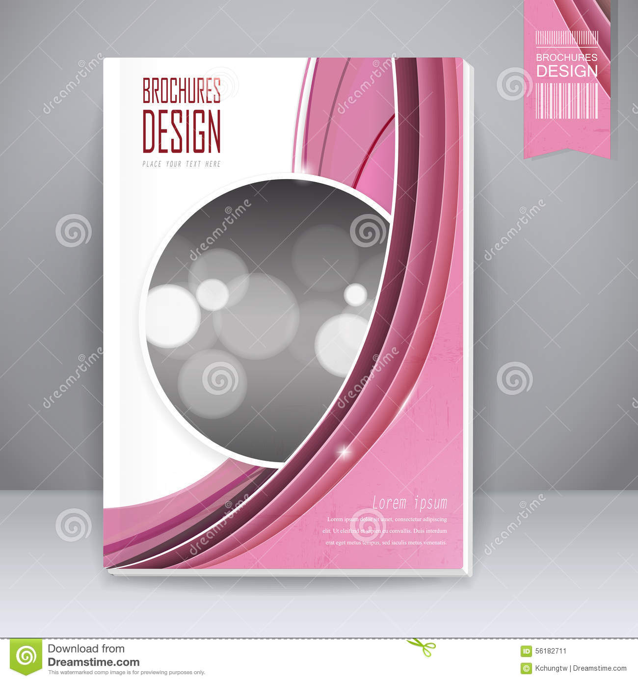 Science Book Cover Design Examples ~ Trendy book cover template design stock vector image