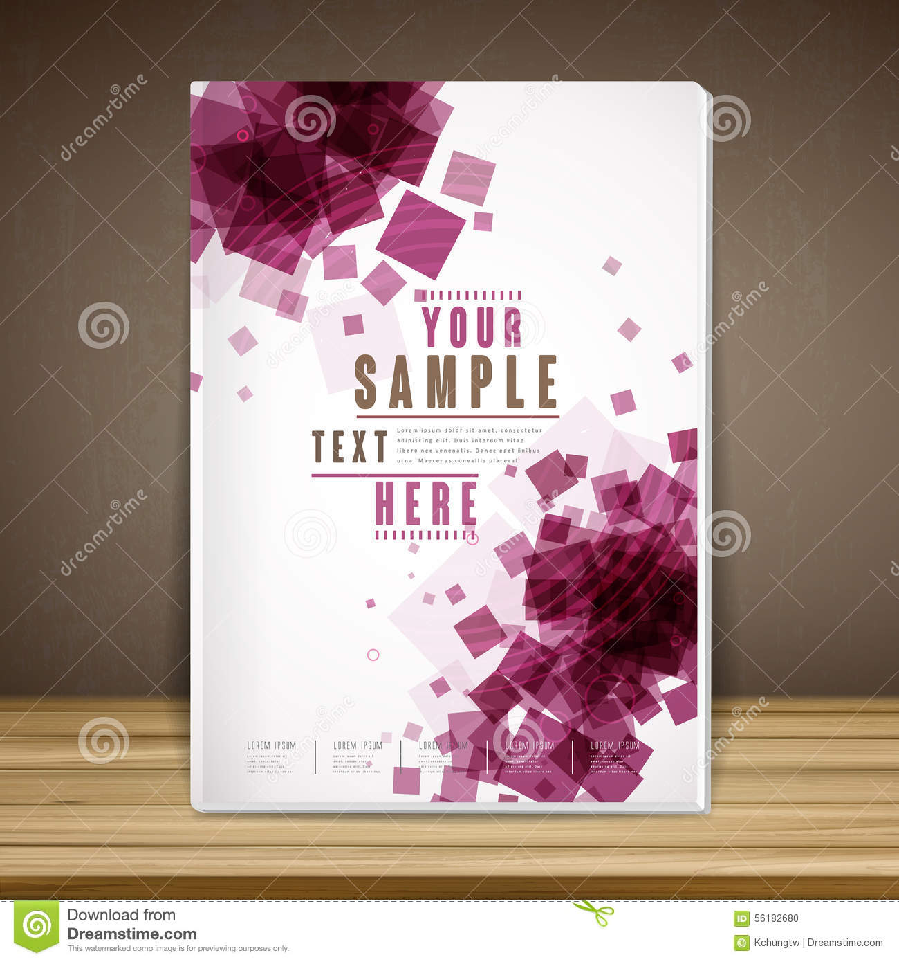 Elegant Book Cover Template : Trendy book cover template design stock vector image