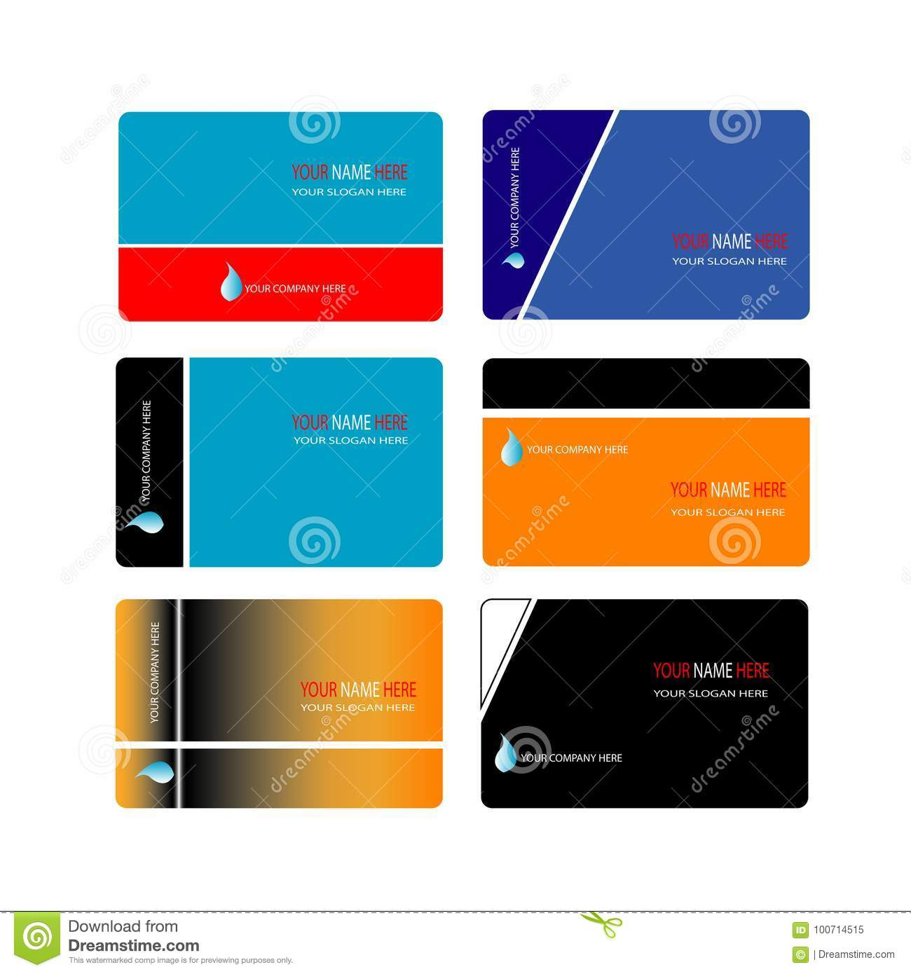 Trendy business card template collection stock vector illustration download trendy business card template collection stock vector illustration of elements drawing 100714515 reheart Gallery