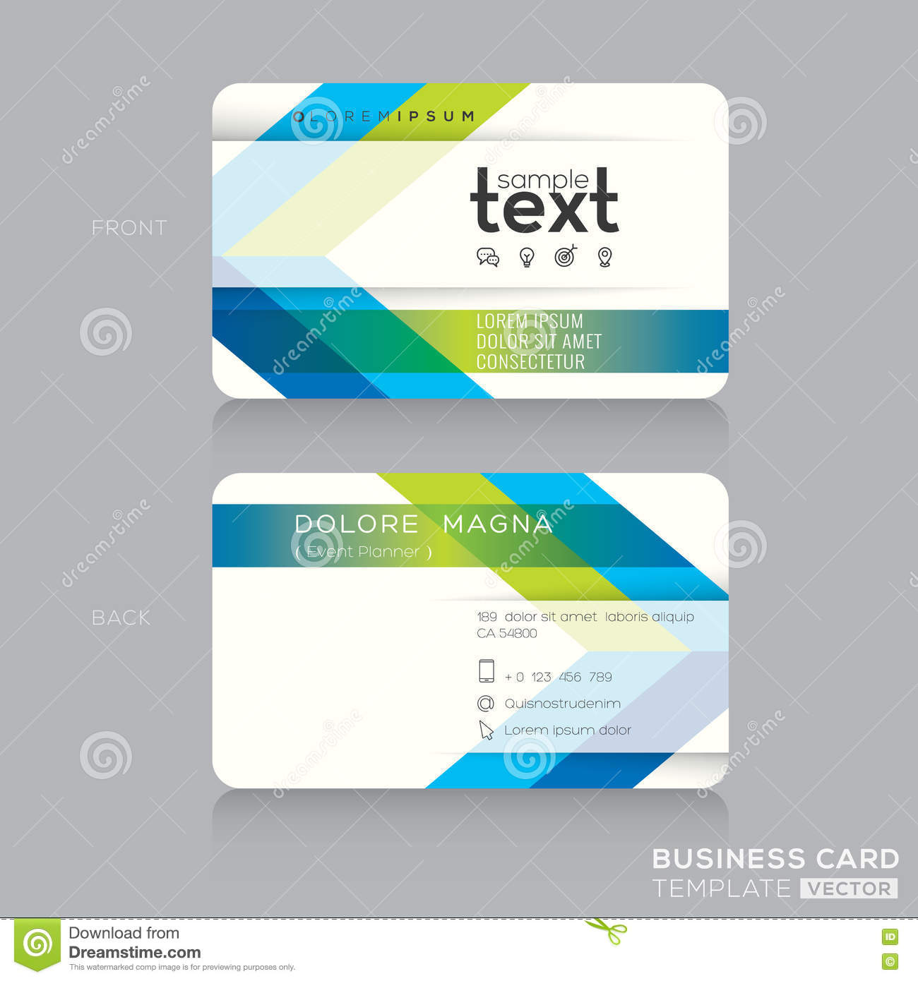 Trendy business card template with green and blue arrow background trendy business card template with green and blue arrow background friedricerecipe Images